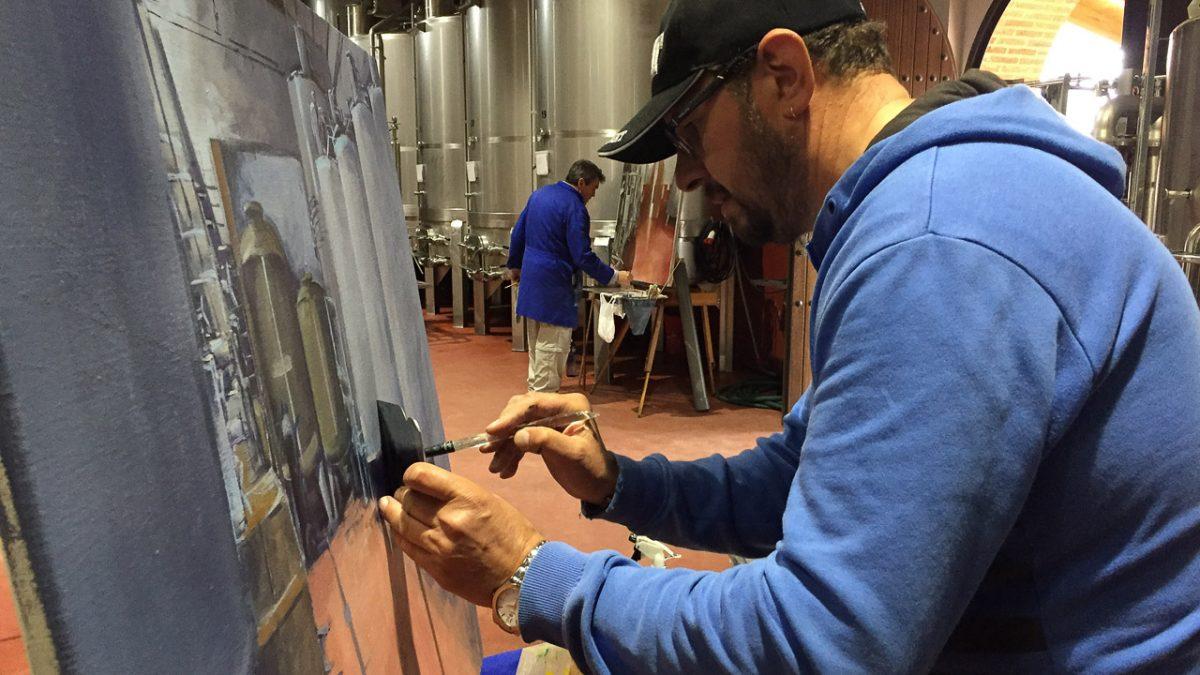 Una veintena de artistas pintan los viñedos y bodegas de la DO Tierra de León