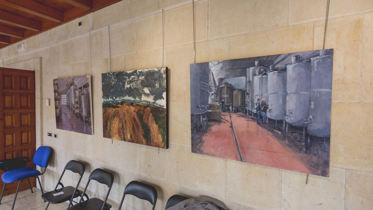 La Casa de las Carnicerías expone las obras del  I Concurso Pintura Rápida y Enoturismo