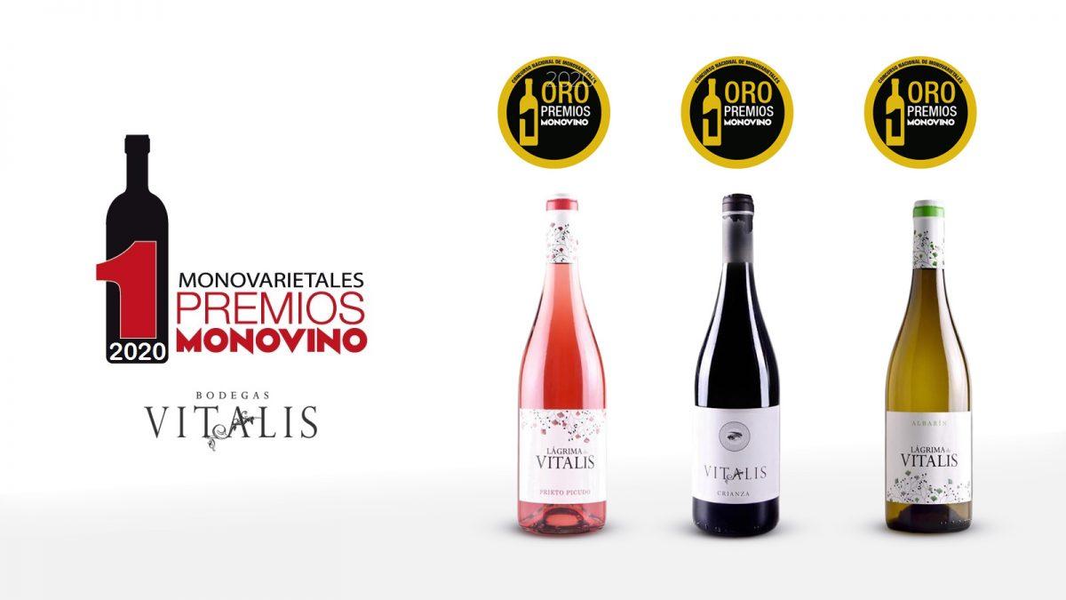 Tres oros para vinos de Vitalis en Monovino-2020