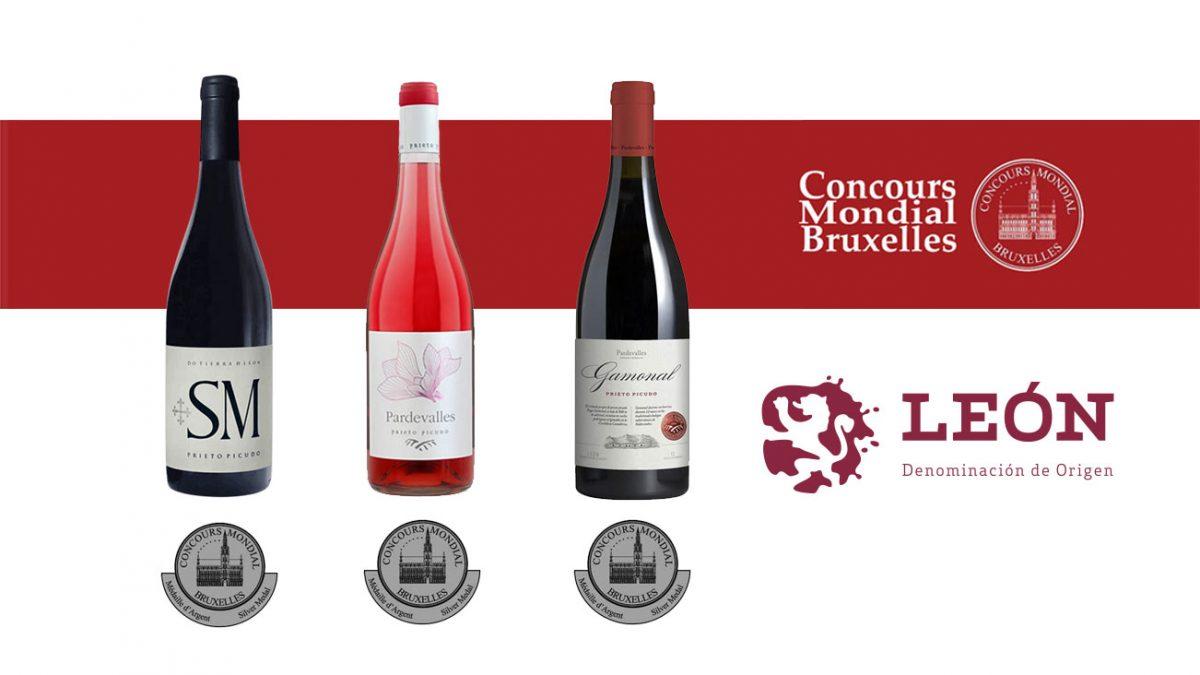Tres medallas de plata para los vinos de la Denominación de Origen León en el Concurso Mundial de Bruselas